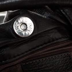 Sonia Rykiel Black Leather Studded Shoulder Bag