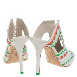 Sophia Webster Multicolor Leather Riko Cut Out Slide Sandals Size 39