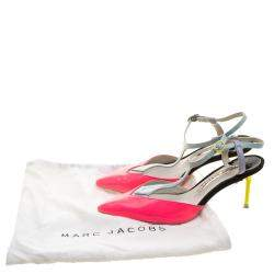 Sophia Webster Multicolor Patent Leather T Straps Pointed Toe Sandals Size 36.5