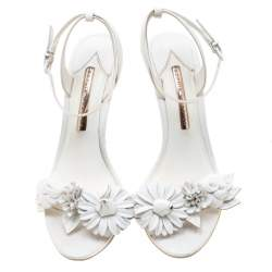 Sophia Webster White Leather Lilico Sandals Size 39.5