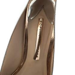 Sophia Webster Metallic Silver Leather Coco Flamingo Pointed Toe Pumps Size 40.5