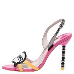 Sophia Webster Multicolor Leather And Patent Oprah Hot Stepper Sandals Size 37