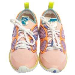 Sophia Webster Multicolor Fabric And Rubber Candyfloss Fly By Sneakers Size 36