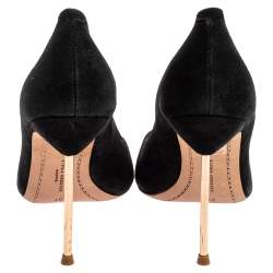 Sophia Webster Black Suede Loren Peep Toe Pumps Size 37