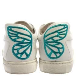 Sophia Webster White Leather Bibi Butterfly Sneakers Size 39.5