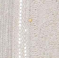 St. John Beige Rib Knit Embellished Open Cardigan XL