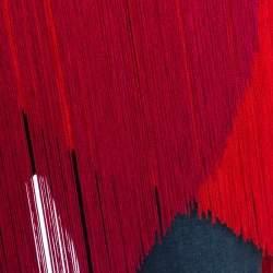 Stella McCartney Red Crepe Fringe Detail Sleeveless Top M