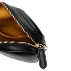 Stella McCartney Black Perforated Logo Leather Belt Bag