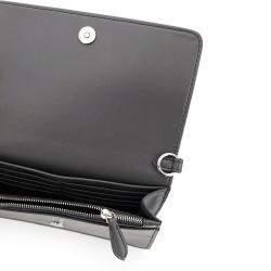 Stella McCartney Grey Leather Stella Logo Crossbody Bag