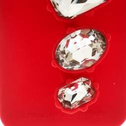 Stella McCartney Red Rubber Crystal Four Finger Ring iPhone 6 Case