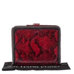 Stella McCartney Red Python Print Faux Leather Falabella iPad Holder