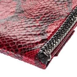 حافظة آيباد ستيلا مكارتني فالابيلا جلد صناعي مطبوع نقشة الثعبان أحمر