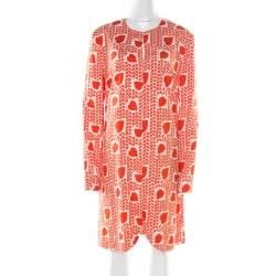 Stella McCartney Orange Heart Printed Shift Dress M