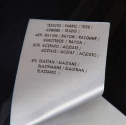 Stella McCartney Navy Blue Crepe Front Zip Detail Long Sleeve Arlesa Top M