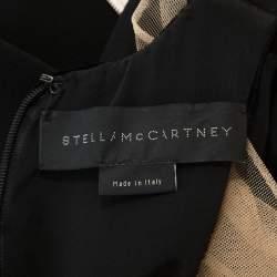 Stella McCartney Black Velvet Belted Saskia Stretch-Cady Gown M