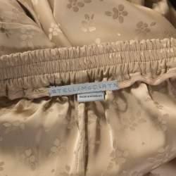Stella McCartney Beige Jacquard Elasticized Waist Trousers S