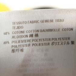 Stella McCartney Yellow Cotton Jacquard Tapered Pants M