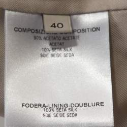 Stella McCartney Pale Ecru Silk Blend Tailored Blazer S