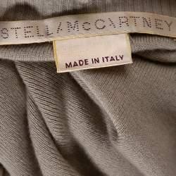 Stella McCartney Beige Cashmere & Silk Chunky Knit Trim Sweater M