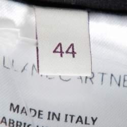 قميص ستيلا مكارتني أزرار أمامية مزين مطرز حرير أسود مقاس وسط (ميديوم)