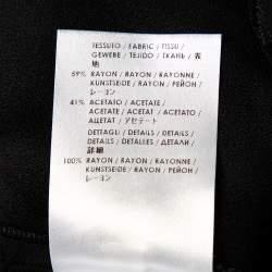 Stella McCartney Black Crepe Fringe Detail Sleeveless Top S