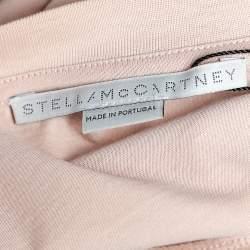 Stella McCartney Light Pink Cotton All Is Love Patch Detail Crewneck T-Shirt M