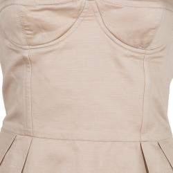 Stella McCartney Beige Strapless Corset Dress S