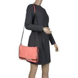 Stella McCartney Peach Faux Leather Falabella Shoulder Bag
