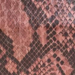 Stella McCartney Pink/Black Faux Python Leather Lucia Clutch