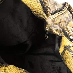 Stella McCartney Yellow/Black Python Effect Leather Falabella Tote