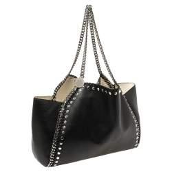 Stella McCartney Black Leather Falabella Tote Bag