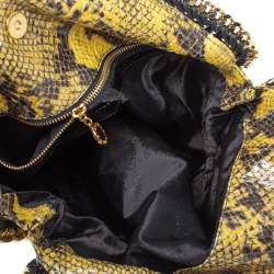 Stella McCartney Yellow/Black Faux Python Leather Small Falabella Tote