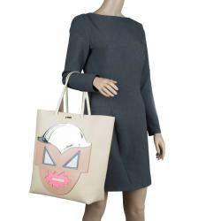 Stella McCartney Beige Leather Superhero Structured Tote