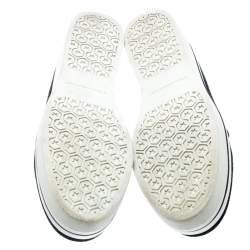 Stella McCartney Black Glitter Binx Platform Slip On Skate Shoes Size 39