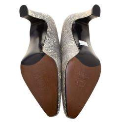 Stuart Weitzman Two Tone Lizard Leather Pumps Size 38.5