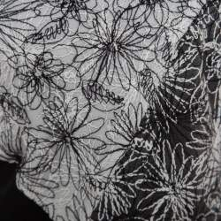 Tadashi Shoji Monochrome Floral Embroidered Marissa Gown M