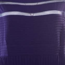 Tadashi Shoji Purple Sheer Panel Insert Sleeveless Gown L