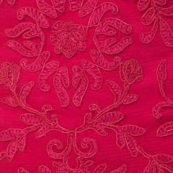 Tadashi Shoji Pink Chiffon & Lace Tiered Moreau Gown M