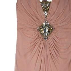 Temperley Vega Embellished Silk Chiffon Gown M
