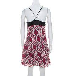 Thakoon Addition Fuchsia Pink Printed Cotton Cami Dress XS