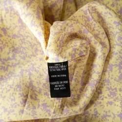Tibi Bicolor Abstract Print Silk Elasticized Waist Midi Dress L