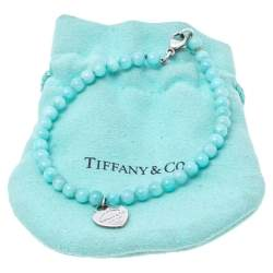 Tiffany & Co. Return To Tiffany Sterling Silver Heart Tag Bead Bracelet