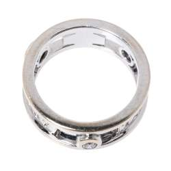 Tiffany & Co.Tiffany 1837 Diamond 18K White Gold Ring Size 48