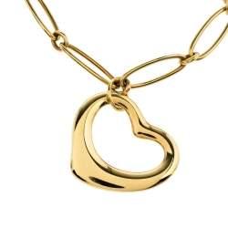 Tiffany & Co. Elsa Peretti Open Heart 18K Yellow Gold Charm Bracelet