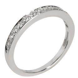 Tiffany & Co. Diamond Wedding Platinum Band Ring Size 49