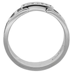Tiffany & Co. Atlas Diamond 18K White Gold Ring Size 54