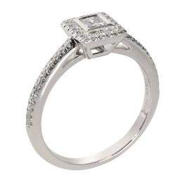 Tiffany & Co. Platinum  Grace Princess 0.27 CTW Diamond Ring Size EU 51