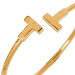Tiffany & Co. Tiffany T Wire 18K Yellow Gold Bracelet