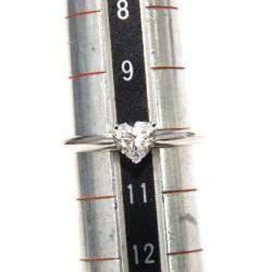 Tiffany & Co. Platinum Heart-shaped Diamond Engagement Ring Size 50.5