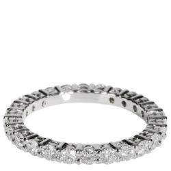 Tiffany & Co. Embrace Diamond Platinum Eternity Band Ring Size EU48